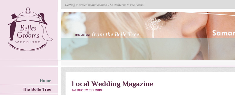 Belles & Grooms Wedding Magazine Website Design & Development
