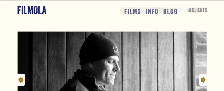 Filmola Filmographer Video Porfolio Website Design