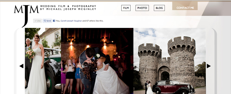 Michael McGinley Wedding Film & Photography Website Design & Development